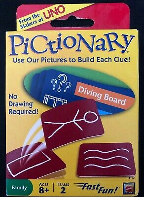 MATTEL - Pictionary Card Game- Brand New! From The Makers Of Uno! Immediate Ship