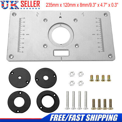 230x120x8mm Aluminum Router Table Insert Plate With Ring For Woodworking Benches
