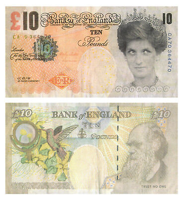Banksy Di-Faced Replica Tenner Ten Pound Note