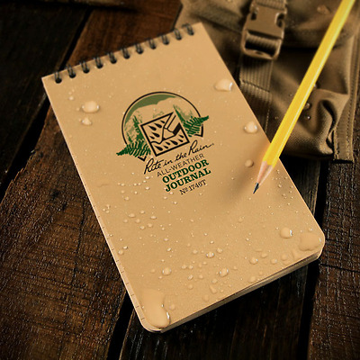 Rite in the Rain Side Spiral Outdoor Journal Tan 1746T 4 x 6