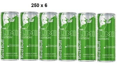 Red Bull Lime Edition Zitrone, Energy Drink 250 ml x6