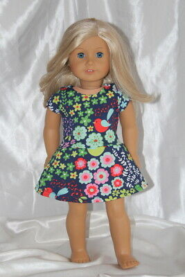 Dress fits 18inch American Girl Doll Clothes Floral Print