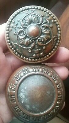 Antique Cast Bronze Brass Entry Door Knob Set - Florence Design Old Hardware