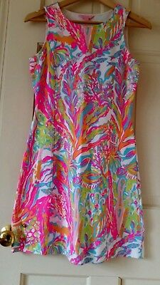 0cacb53a3d57ab Lilly Pulitzer Whiting Shift Dress French Terry Scuba to Cuba Cut Out XS  15004