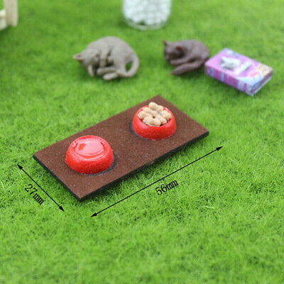 1:12 Miniature cat and dog food bowl dollhouse diy doll house decor accessoriesM