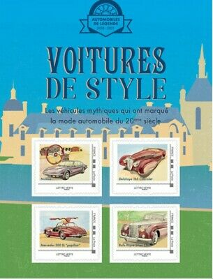 France 2019 Collector - Voitures de style - Chantilly 4V MNH / Neuf