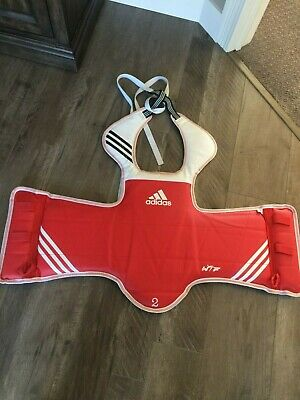 d6fb0391fc459 ADIDAS REVERSIBLE TAEKWONDO Chest Guard Blue Red WTF KTA Approved ...