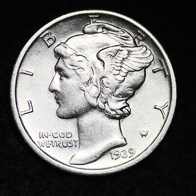 UNCIRCULATED 1939 S Mercury Silver Dime FREE SHIPPING