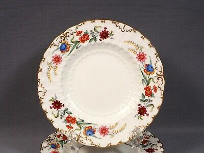 ROYAL CROWN DERBY CHATSWORTH Bread and Butter Dessert Plate(s) Embossed Gold