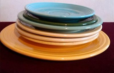 Fiesta Fiestaware Lot of 7 Mixed Salad Dinner Saucer Plates Assorted colors
