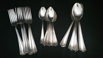 Antique Legacy Silver plate 18 piece lot of Spoon & Fork by Simeon L & George H.