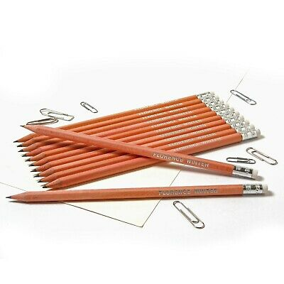 12 Natural Wood Pencils Personalised with Name -Quality Printed/Embossed Pencils