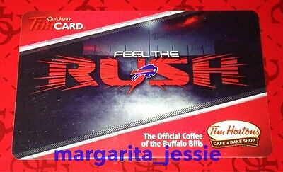 Tim Hortons Us Gift Card Feel The Rush Buffalo Bills Nfl 2015 No Value Fd48383
