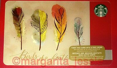 "Starbucks Canada Gift Card ""birds Of A Feather"" 2015 New 48 Collection No Value"