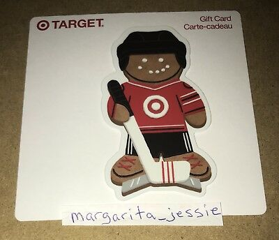 Target Gift Card Gingerbread Man Hockey Player Canada No Value Collectible New