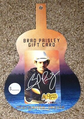 """Cracker Barrel Old Country Store """"brad Paisley"""" Gift Card No Value New 2013"""