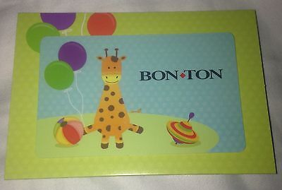 Bonton Gift Card Giraffe Balloons No Value Collectible New Store Is Closing