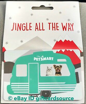 """Petsmart """"Dog & Cat In Travel Trailer"""" Gift Card Holiday 2018 No Value New"""