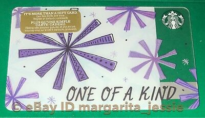 """Starbucks Canada Series Gift Card """"one Of A Kind"""" 2017 Value Holiday Snowflakes"""