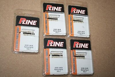 5 packs P-Line Dura-Max High-Speed Rolling 11-ct - Sz 7 - 48 lb TT34