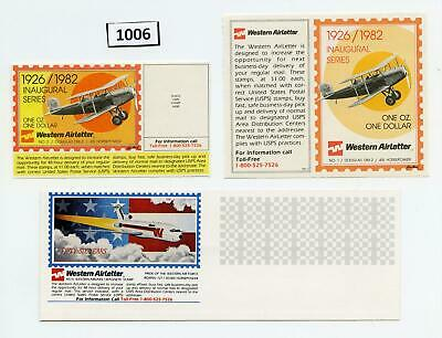 Dealer Dave Stamps SCARCE LOT OF WESTERN AIRLETTER, 1982-84, PRIVATE POST (1006)