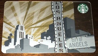 """Starbucks Us Gift Card """"City Of Angels"""" Los Angeles 2014 No Value New 6099"""