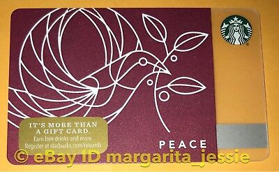 """Starbucks Us Gift Card """"Peace 2017"""" Holiday New No Value Collectible #6142"""