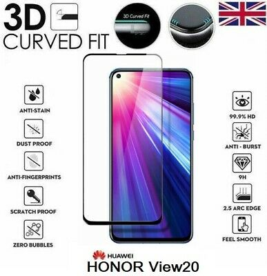 For Huawei Honor View 20 Full 3D Tempered Glass 9H Screen Protector Cover