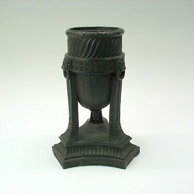 1800's Wedgwood black basalt tall urn