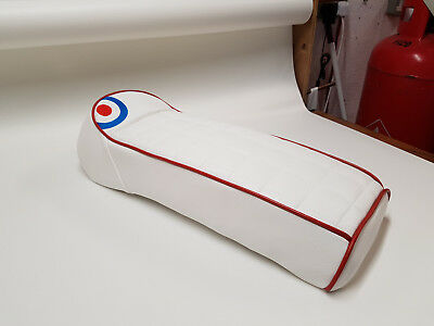 Scomadi / Royal Alloy Seat Cover Custom Made Design Part Roundel square quilt