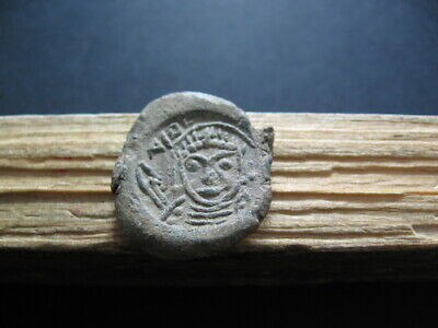 BYZANTINE EARLY MEDIEVAL LEAD SEAL BULA 7-9 ct. A.D. 27 mm