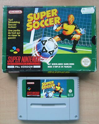 Super Nintendo - SNES - Super Soccer - Boxed - NO Manual
