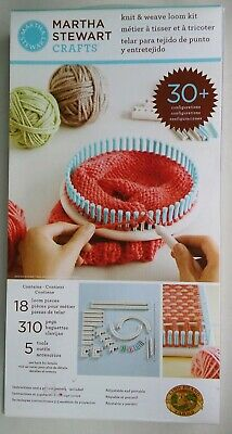 Martha Stewart Crafts Knit & Weave Loom Kit with 30+ Configurations