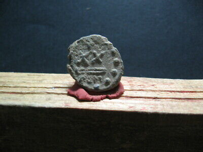 BYZANTINE EARLY MEDIEVAL LEAD SEAL BULA 7-9 ct. A.D. 21 mm