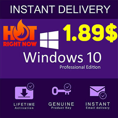 Windows 10 Professional Pro 32|64 Bit Genuine Activation Key License 🔥🔥