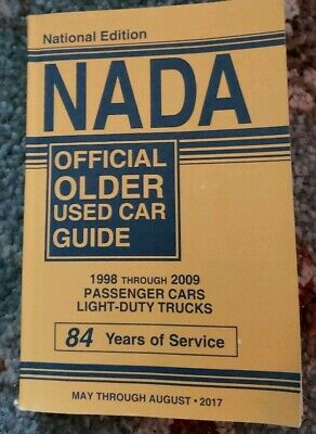 Nada Official Older Used Car Guide 1998 Through 2009