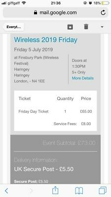 Wireless Festival 2019 Friday Only Ticket