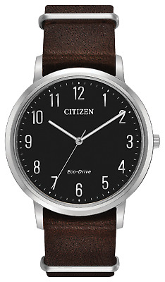 Citizen Men's Chandler 41mm Leather Band Steel Case Eco-Drive Watch BJ6500-04E
