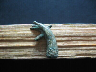 Dragon Bronze Age Amulet Ancient Celtic Bronze Zoomorphic Talisman 900-750 Bc