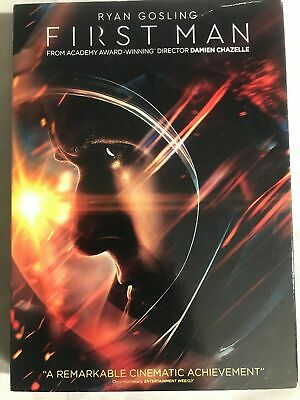 NEW First Man DVD 2018 Ryan Gosling Slipcover Free Shipping
