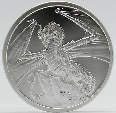 The Welsh 1 oz Silver Medal - World of Dragons Round - Series # 2 ounce - JB822