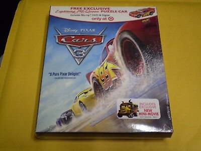 Cars 3   (Blu-Ray & DVD Combo Pack, 2017)  Disney  Target Exclusive  Brand NEW