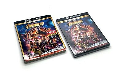 Avengers Infinity War 4K Ultra HD, Blu Ray, & Digital HD W/ Slipcover Brand NEW