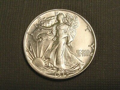 1942 P Walking Liberty Silver Half Dollar~90% Silver Coin~Estate Find~XF Nice