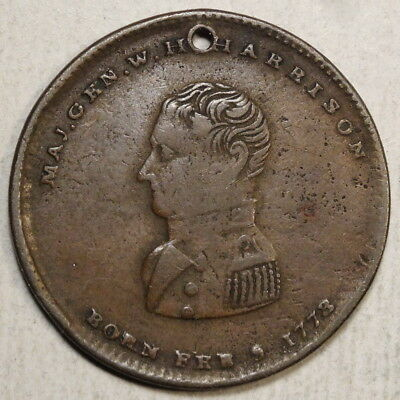 Political Token, William H. Harrison Presidential Race c.1840, In DeWitt, Scarce