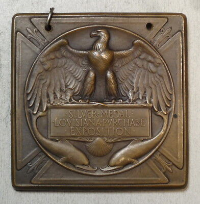 Silver Award Medal, 1904 Louisiana Purchase Exposition, Robert Aitken Design