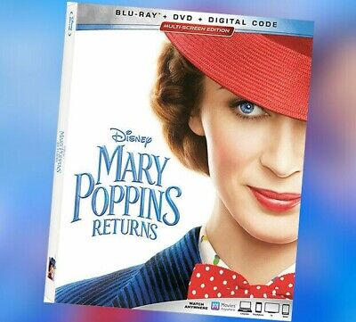 Disney's Mary Poppins Returns Blu-Ray Disc Only with Case, Artwork and Cover