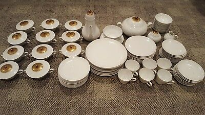 Vintage Rosenthal Dekor Quatre Couleurs German China Grouping-93 Pieces #3548