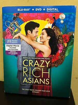 CRAZY RICH ASIANS Blu-ray + DVD + Digital Movie + Special Features