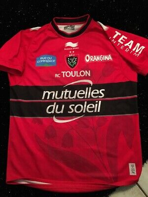 maillot shirt Rct Toulon Rugby No Worn Match Rugby